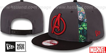 Avengers 'SLICE SNAPBACK' Grey-Black Hat by New Era