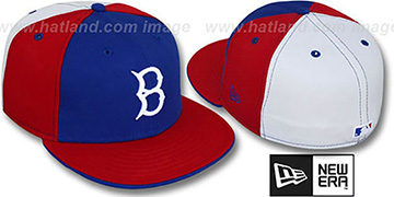 B Dodgers COOP PINWHEEL Royal-Red-White Fitted Hat by New Era