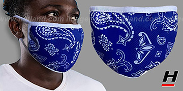 BANDANA Royal-White Washable Fashion Mask by Hatland.com