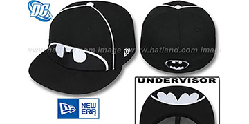 Batman BIG-UNDER Black-White Fitted Hat by New Era