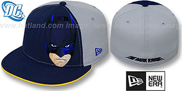 Batman DARK KNIGHT FACE Navy-Grey Fitted Hat by New Era