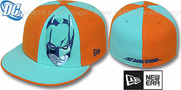 Batman 'DARK KNIGHT FACE' Orange-Green Fitted Hat by New Era