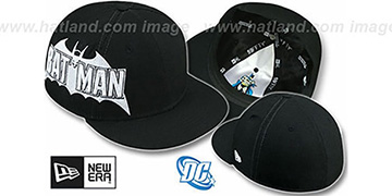 Batman 'TITLE TAG' Black Fitted Hat by New Era