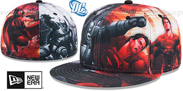 Batman VS Superman 'BATTLE ALL-OVER' Fitted Hat by New Era