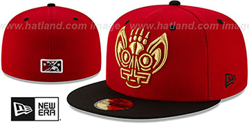 Bats 'COPA' Red-Black Fitted Hat by New Era