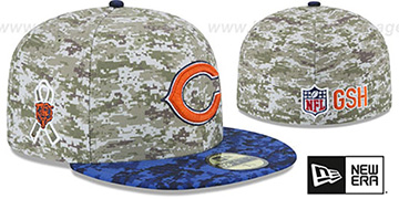 Bears 2015 SALUTE-TO-SERVICE Desert-Navy Fitted Hat by New Era