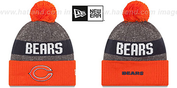 Bears '2016 STADIUM' Orange-Navy-Grey Knit Beanie Hat by New Era