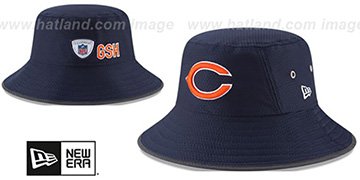 Bears 2017 NFL TRAINING BUCKET Navy Hat by New Era