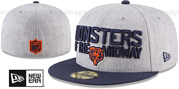 Bears '2018 ONSTAGE' Grey-Navy Fitted Hat by New Era