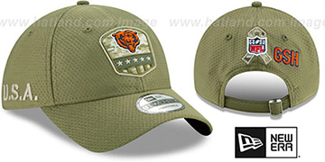 Bears 2019 SALUTE-TO-SERVICE STRAPBACK Olive Hat by New Era