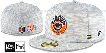 Bears 2020 ONFIELD STADIUM Heather Grey Fitted Hat by New Era