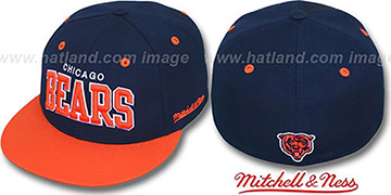 Bears 2T CLASSIC-ARCH Navy-Orange Fitted Hat by Mitchell & Ness
