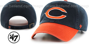Bears 2T CLEAN-UP STRAPBACK Navy-Orange Hat by Twins 47 Brand