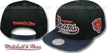 Bears '2T TAILSWEEPER SNAPBACK' Black-Navy Hat by Mitchell & Ness