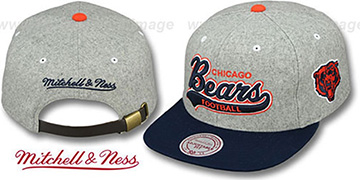 Bears '2T TAILSWEEPER STRAPBACK' Grey-Navy Hat by Mitchell & Ness