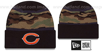 Bears ARMY CAMO FILLZ Knit Beanie Hat by New Era