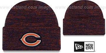 Bears 'BEVEL' Navy-Orange Knit Beanie Hat by New Era