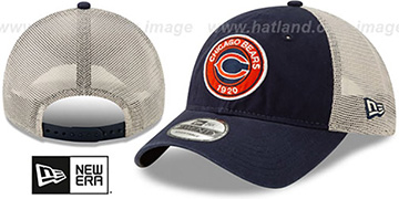 Bears ESTABLISHED CIRCLE TRUCKER SNAPBACK Hat by New Era