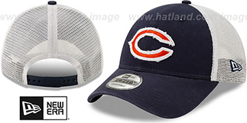 Bears FRAYED LOGO TRUCKER SNAPBACK Hat by New Era