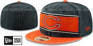 Bears HERITAGE BAND Navy-Orange Fitted Hat by New Era