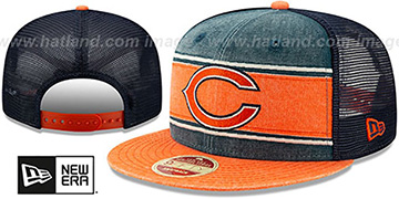 Bears 'HERITAGE-BAND TRUCKER SNAPBACK' Navy-Orange Hat by New Era