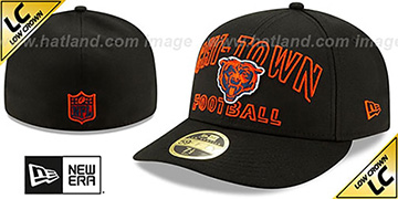Bears LOW-CROWN ALT 2020 NFL VIRTUAL DRAFT Black Fitted Hat by New Era