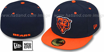 Bears 'NFL 2T-TEAM-BASIC' Navy-Orange Fitted Hat by New Era