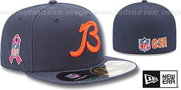 Bears NFL BCA Navy Fitted Hat by New Era