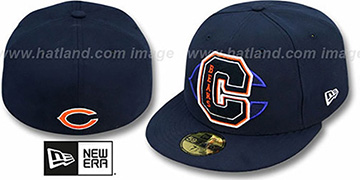 Bears 'NFL FELTN' Navy Fitted Hat by New Era