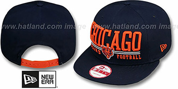 Bears 'NFL LATERAL SNAPBACK' Navy Hat by New Era