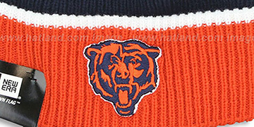 Bears 'NFL-TB FIRESIDE' Navy-Orange Knit Beanie Hat by New Era