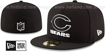 Bears NFL TEAM-BASIC Black-White Fitted Hat by New Era