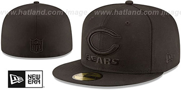 Bears NFL TEAM-BASIC BLACKOUT Fitted Hat by New Era