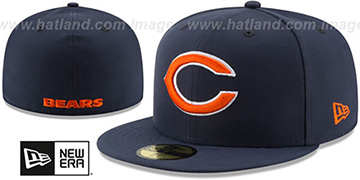 Bears NFL TEAM-BASIC Navy Fitted Hat by New Era