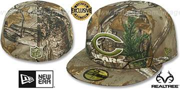 Bears NFL TEAM-BASIC Realtree Camo Fitted Hat by New Era