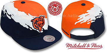 Bears 'PAINTBRUSH SNAPBACK' Orange-White-Navy Hat by Mitchell & Ness