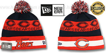 Bears REPEATER SCRIPT Knit Beanie Hat by New Era