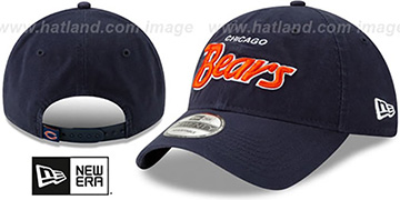Bears RETRO-SCRIPT SNAPBACK Navy Hat by New Era