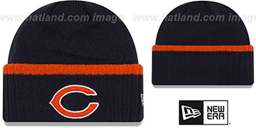 Bears RIBBED-UP Navy Knit Beanie Hat by New Era