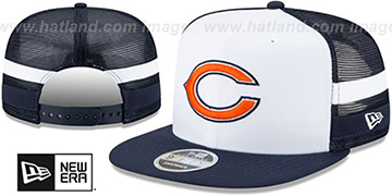 Bears SIDE-STRIPED TRUCKER SNAPBACK Hat by New Era