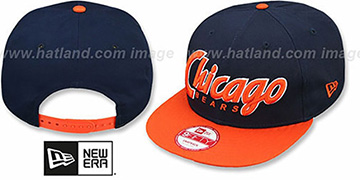Bears SNAP-IT-BACK SNAPBACK Navy-Orange Hat by New Era