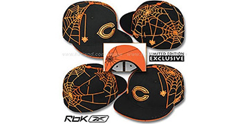 Bears SPIDERWEB Black Fitted Hat by Reebok