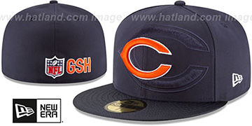 Bears STADIUM SHADOW Navy Fitted Hat by New Era