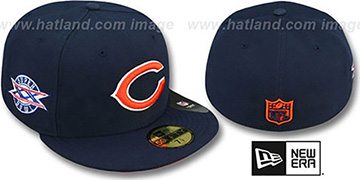 Bears 'SUPER BOWL XX' Navy Fitted Hat by New Era