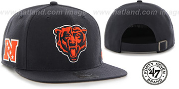 Bears 'SUPER-SHOT STRAPBACK' Navy Hat by Twins 47 Brand