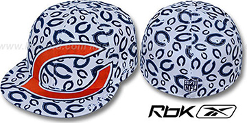 Bears 'SUPERSIZE FLOCKING' White Fitted Hat by Reebok