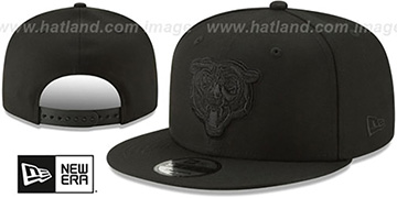 Bears TEAM-BASIC BLACKOUT BEAR SNAPBACK Hat by New Era