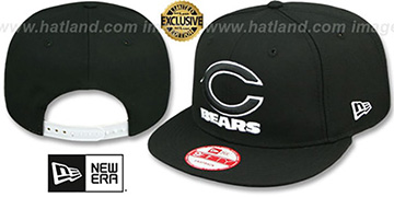 Bears 'TEAM-BASIC SNAPBACK' Black-White Hat by New Era