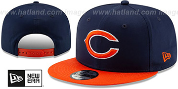 Bears TEAM-BASIC SNAPBACK Navy-Orange Hat by New Era