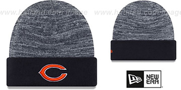 Bears TEAM-RAPID Navy-White Knit Beanie Hat by New Era